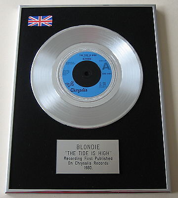 "BLONDIE The Tide Is High PLATINUM 7"" Single DISC Presentation"