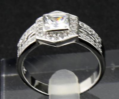 1.87 ct  Natural Diamond  Solid 14KT  White  Gold Antique  Rings 13.0#