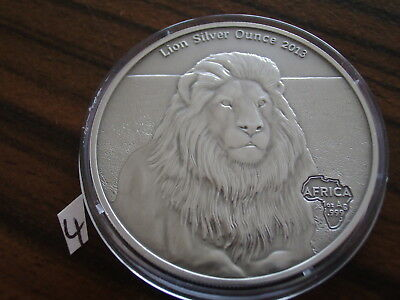 Afrika Gabun Löwe 2013 1 oz Silber Antique Finish africa lion animals silver bu