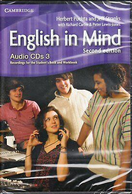 Cambridge ENGLISH IN MIND Level 3 Class Audio CD's SECOND EDITION @BRAND NEW@