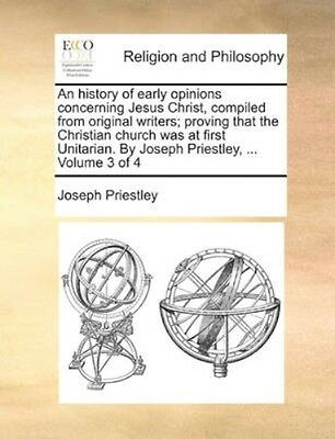 NEW An History Of Early Opinions Concerning... BOOK (Paperback / softback)