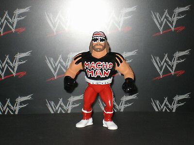 Custom WWF WWE Hasbro Macho Man Randy Savage Wrestling Figure - Mattel Galoob