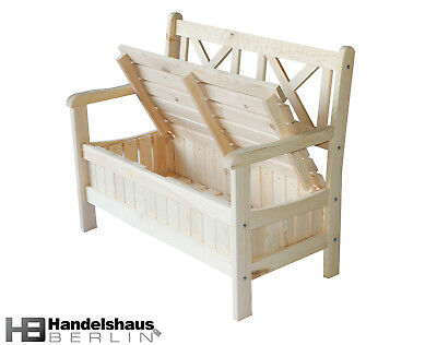 restposten massiv holz gartenbank 2 sitzer mit staufach neu 100 stk eur 1 00 picclick de. Black Bedroom Furniture Sets. Home Design Ideas