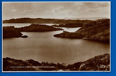 Rp Postcard Loch Morar And Eigg From Bracara Inverness-Shire Nr Mallaig Tarbet