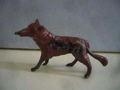 Vintage 1934 Raco Lead Wolf From Red Riding Hood Set Fairy Tale Models