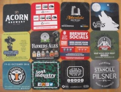 2016 Sheffield Beer Festival 11 Different Beer Mats