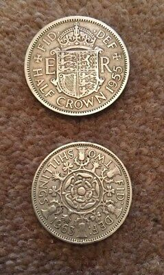 1955 Half Crown & 1963 Two Shillings