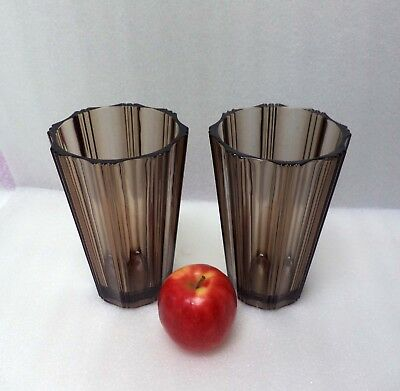 Pair Of Art Deco Style French Glass Vases