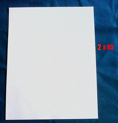 Decal Clear Waterslide Laser Paper 2 x A5 Sheets (85p per Sheet) Fast Delivery