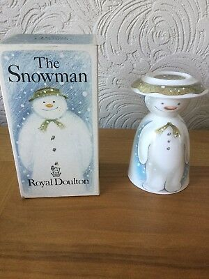 Royal Doulton The Snowman Egg Cup With Small Salt Plate. In Original Box. As New