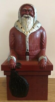 Vintage 1950s Jolly Father Christmas Trinket/ Toffee Box