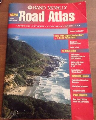 Rand Mcnally 1993 Road Atlas, United States, Canada, Mexico