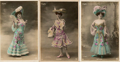 """3 OLD FRENCH 'CIGALE'  POSTCARDS of """"DASSON"""" & """"LETILOY"""""""