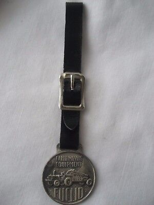 Vintage Watch Fob Euclid Earth Moving Equipment with Strap