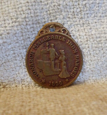 1896 Monarch Malleable Iron Ranges Metal Watch Fob