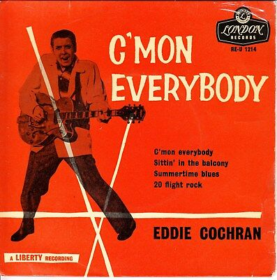 Eddie Cochran 1960 Uk Round Centre London Ep *c'mon Everybody*