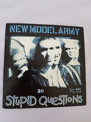 """New Model Army...Stupid questions. 7"""" p/s Single"""