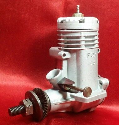 New Vintage 1975 Fox 35 Stunt Model Glow CL / UC Engine Never Run nor Mounted