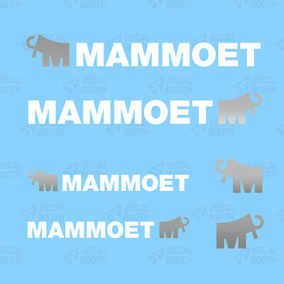 Mammoet Decals 1/50 Scale-  White/ Silver