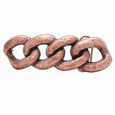 Chain Link Metal Belt Buckle Antique Copper 6009-10 USA