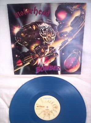 Motorhead, Bomber, 1981, On Blue Vinyl, All Plays Great, Very Good+ Condition