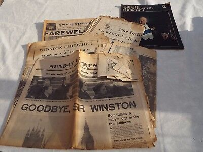 Newspapers on death of Churchill