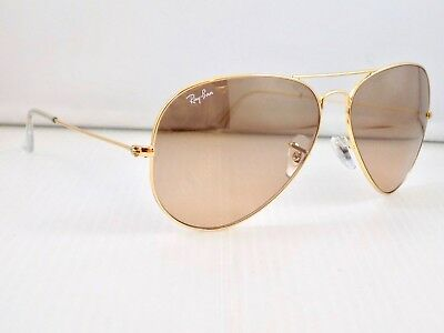 Ray Ban Large Aviator Gradient Mirror RB3025 001/3E 62mm + Case & Receipt