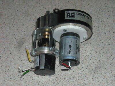 RS precision ovoid 80:1 ratio gearbox 12V motor and servo pot