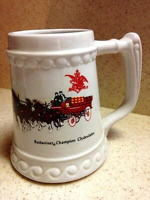 Vintage Ceramic Budweiser Champion Clydesdales Mug, collectible, great condition