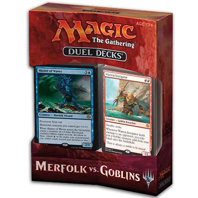 Magic the Gathering MTG Duel Deck Merfolk vs Goblins Trading Card Brand New