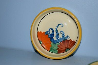 """An early Clarice Cliff coaster  """"Gayday"""" pattern 1930"""