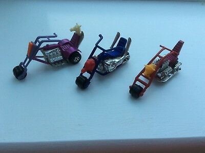 Collectable vintage Matchbox choppers x 3 Chop Suey, The Stingeroo and Jumbo Jet