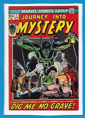 """Journey Into Mystery #1_Oct 1972_Very Fine Minus_""""dig Me No Grave""""_Bronze Age!"""