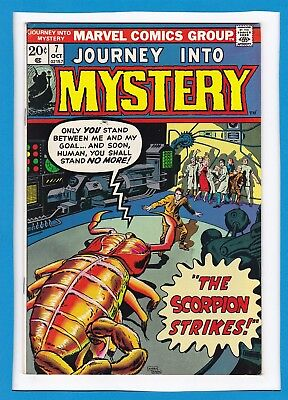 """Journey Into Mystery #7_October 1973_Vf_""""the Scorpion Strikes""""_Bronze Age!"""