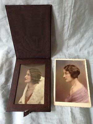 Vintage 1920s Period Embossed Waxed Linen/cloth Photo Frame Exquisite 1920 Photo