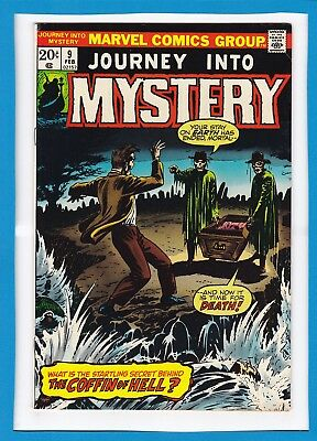 """Journey Into Mystery #9_Feb 1974_Fine Minus_""""the Coffin Of Hell""""_Bronze Age!"""