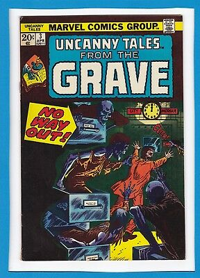 """Uncanny Tales From The Grave #3_April 1974_Fine_""""no Way Out""""_Bronze Age Horror!"""