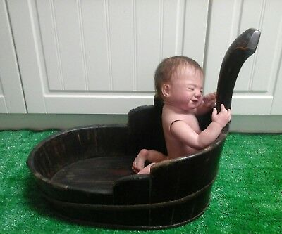 RARE original Vintage 1800's Baby Bath tub Barrel
