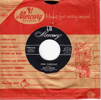 1956 Us Rockabilly Rusty Draper *pink Cadillac/ In The Middle Of The House*