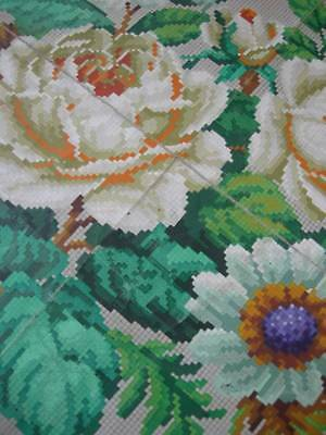 Antique French 1870s coloured Berlin woolwork paper pattern Sajou