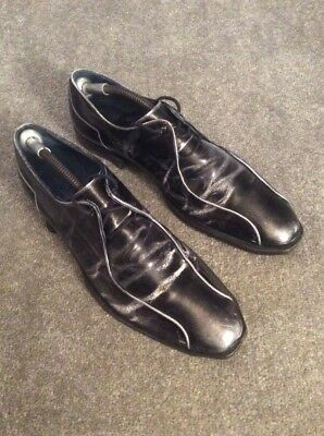 Oliver Sweeney Black Leather Shoes Size Uk 9