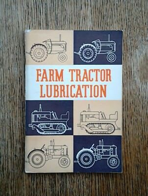Farm Tractor Lubrication Massey David Brown Fordson 1956