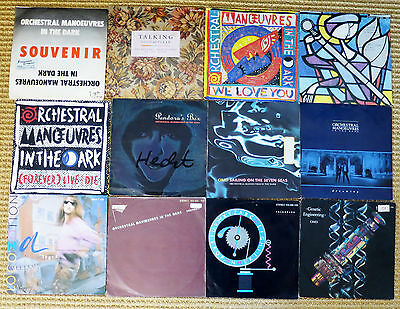 """12 OMD Orchestral Manoeuvres in the Dark - vinyl Singles New Wave Synthie Pop 7"""""""