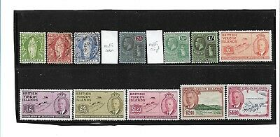 British Virgin Islands MH & Fine Used Selection, 12 Stamps, High Values