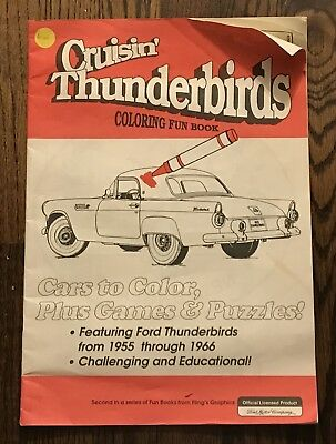 Ford Motor Company Collectibles Vintage Thunderbird Car Club Coloring book Ca 95