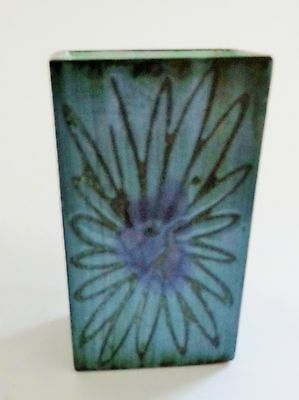 A Troika Pottery vase or sculpture, named to base  free postage