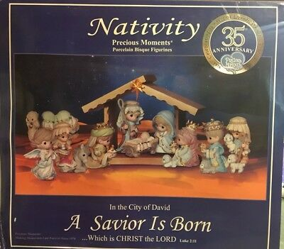 "Precious Moments Nativity Set ""In The City Of David A Savior Is Born"""
