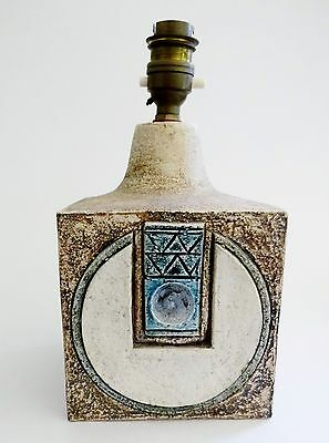 A Troika Pottery Lamp base