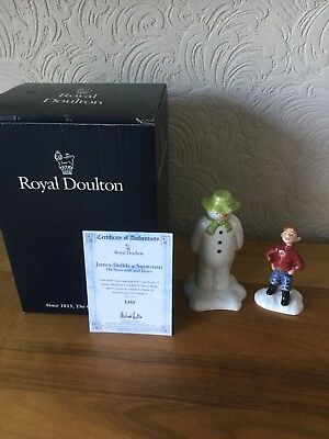 Royal Doulton Limited Edition The Snowman And James 'James Builds A Snowman'