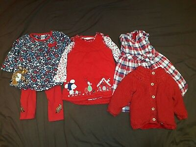 red winter christmas baby girl bundle 6-9 months